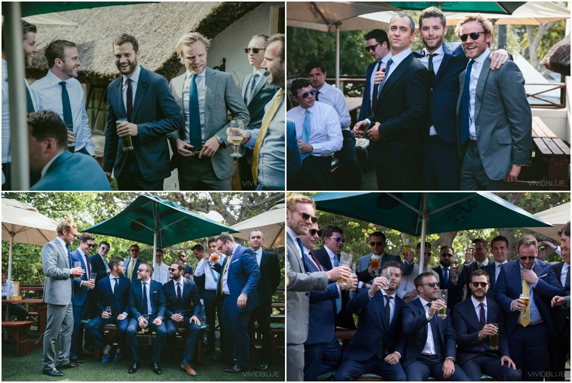African Theme Wedding Cape Pint Vineyards Jamie Dornan Groomsman
