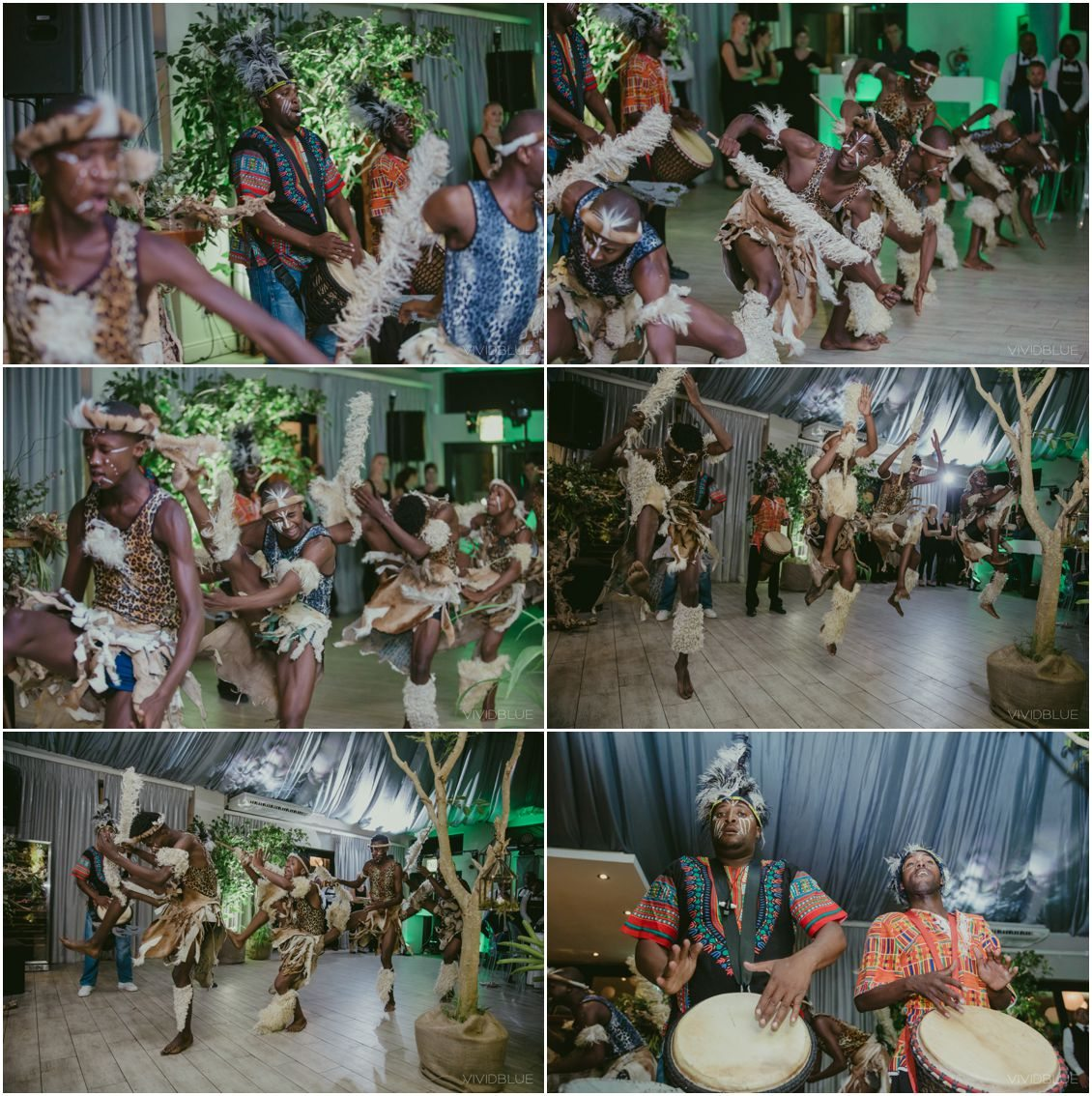 African Theme Wedding Cape Point Vineyards Zulu Dancers