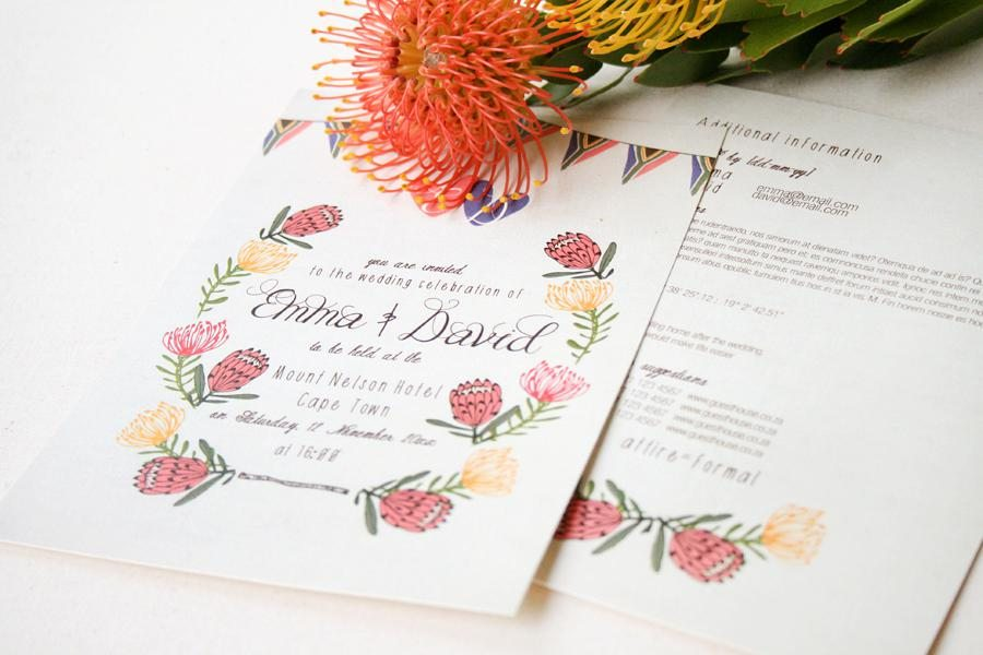 The Invitation Gallery North West Wedding Stationery Pink Book
