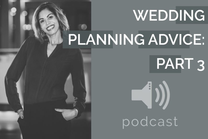 #18 - Tracy Branford - Wedding Planning Advice Part 3