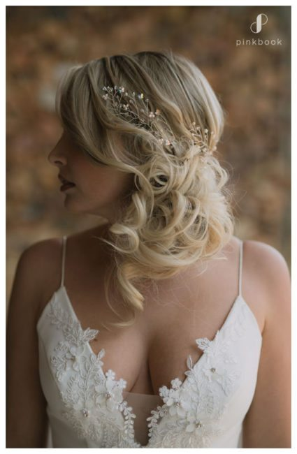 bride looking away