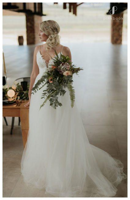 bride with bouquet