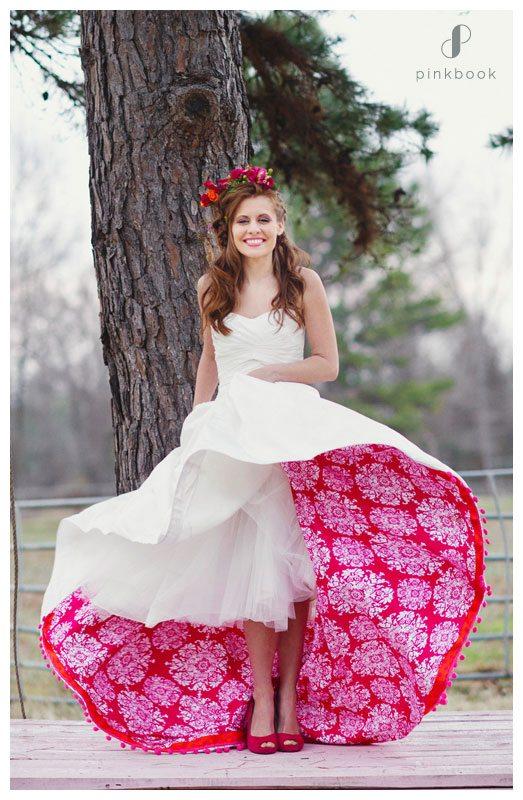 colourful petticoat dress