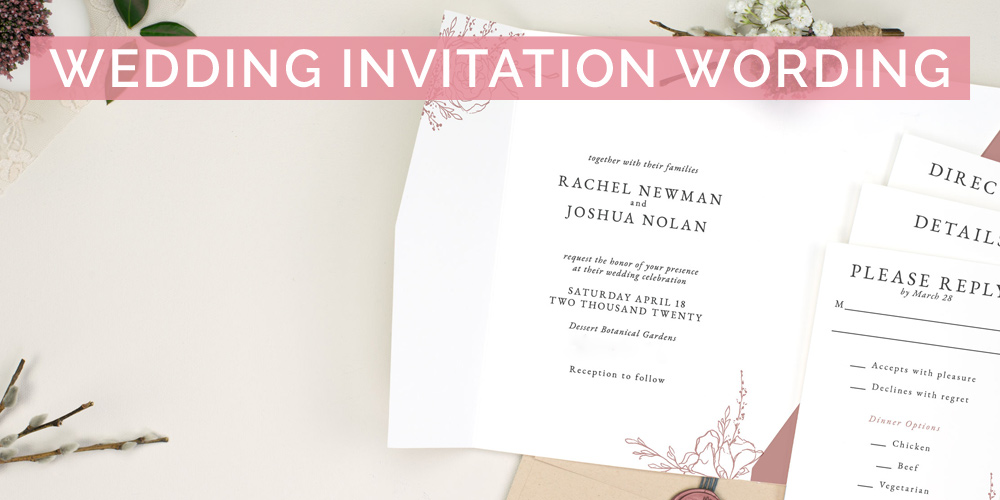 Wedding Invitation Wording L Examples Of What To Say In A Wedding