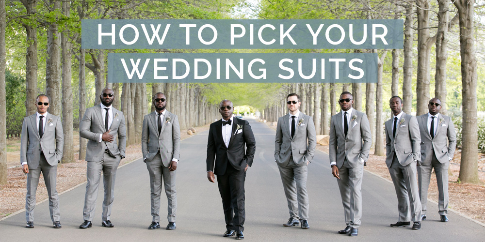 how to pick your wedding suits
