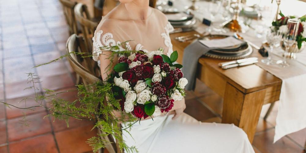 Burgundy and Blue Wedding Inspiration