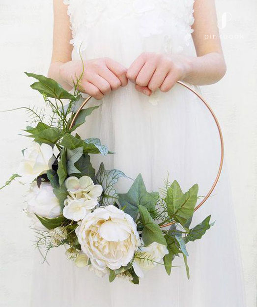 flower hoop bouquet