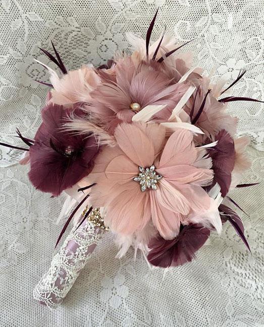 unique feather bouquet