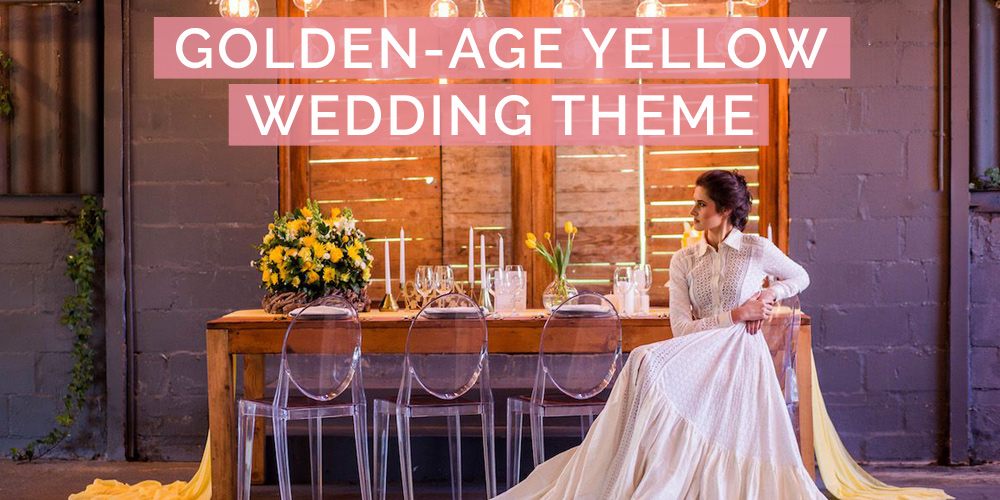 A Bright, Golden Age Yellow Wedding Styled Shoot