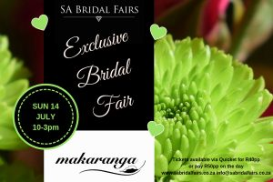 SA Bridal Fairs Exclusive Bridal Fair at Makaranga