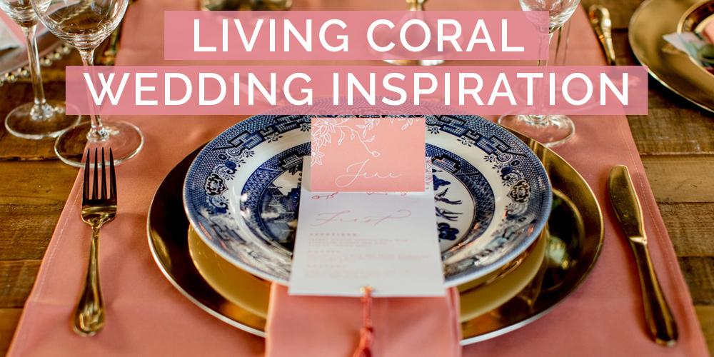 Coral Color Wedding