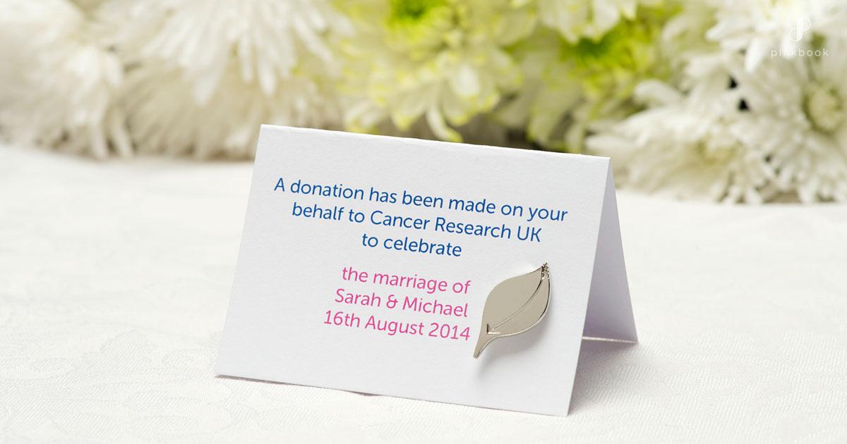 Donation wedding gifts