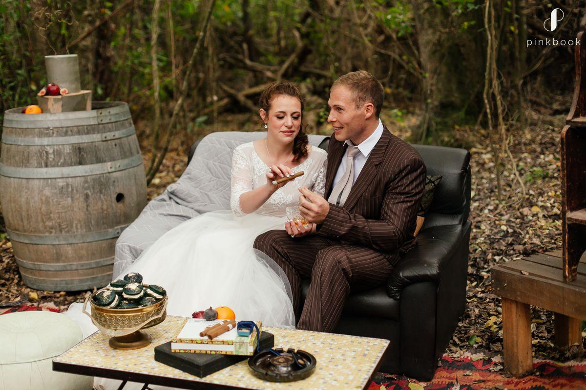 pinstripe wedding suit