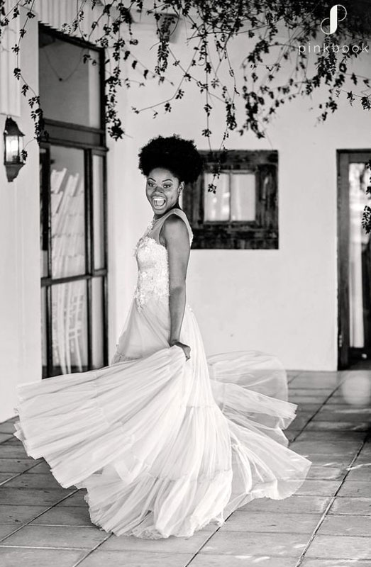 african bride wedding dress