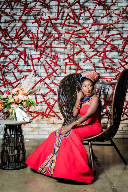 red african wedding dress