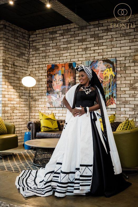 modern african wedding dress