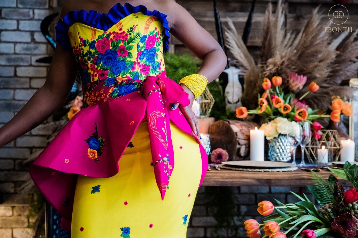 colourful african wedding dress