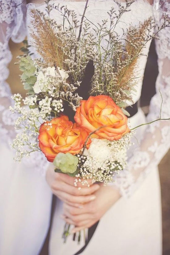 Yellow Orange Rose Bouquet