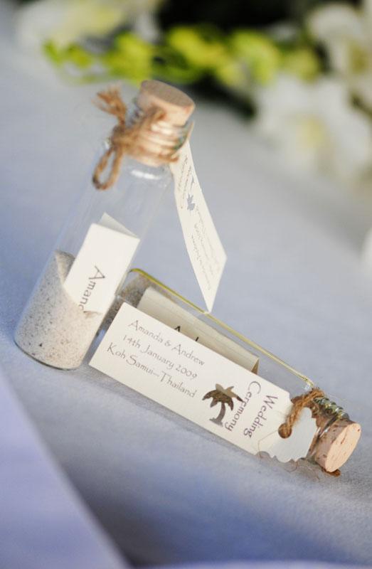 beach bottles wedding gifts