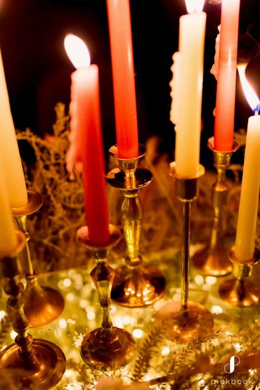 wedding candles decor