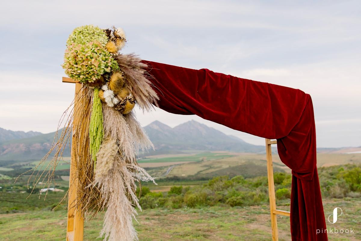 boho wedding arch