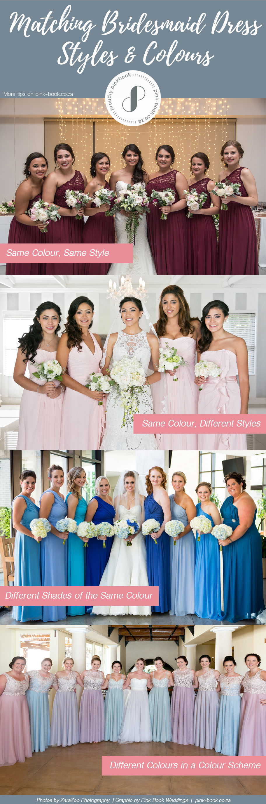 Matching Bridesmaid Dresses Styles Colours