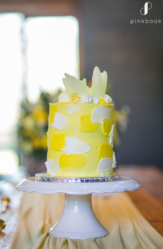 bright wedding cake inspiration