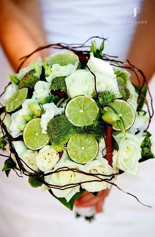 Wedding Bouquet with Lime & Broccoli