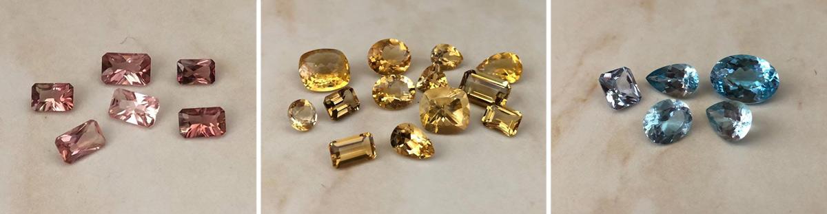 gemstones rosette jewellery
