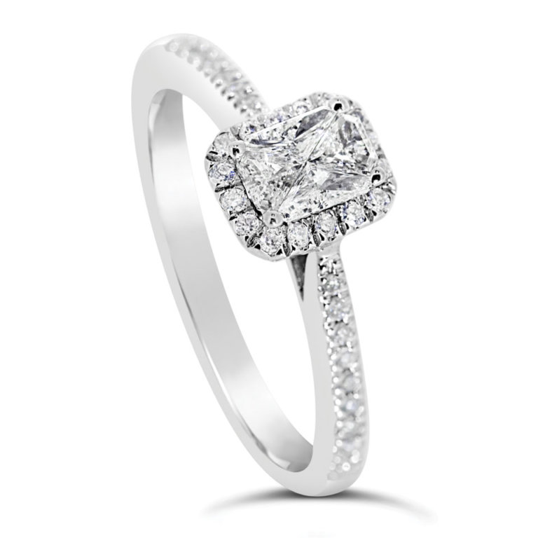 Radiant Halo Diamond Engagement Ring