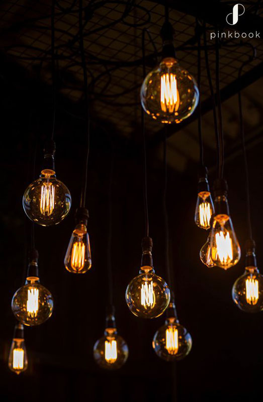 industrial wedding lighting ideas