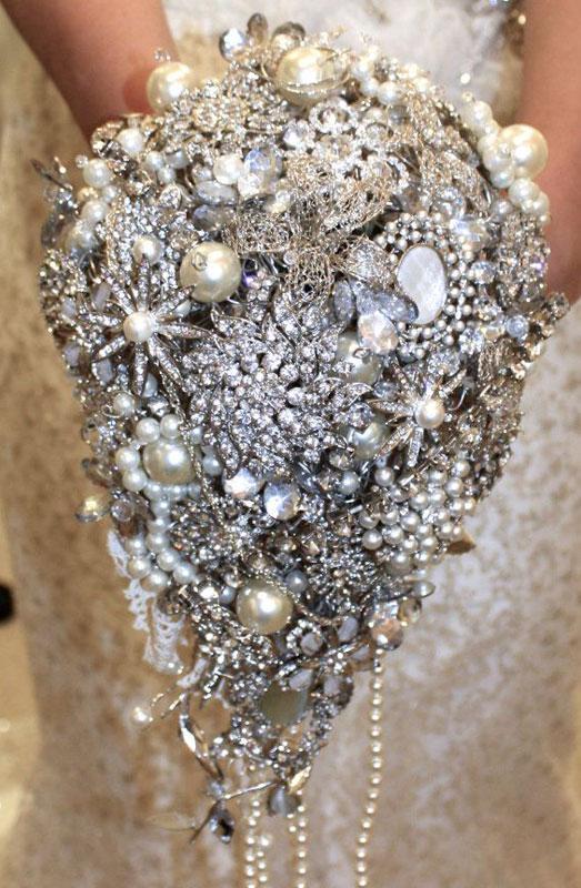 jewel wedding bouquet