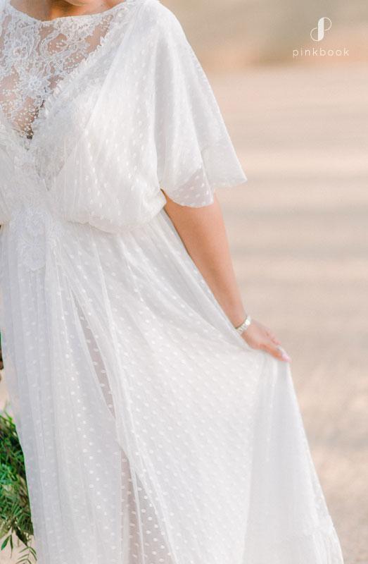 lacey wedding dress