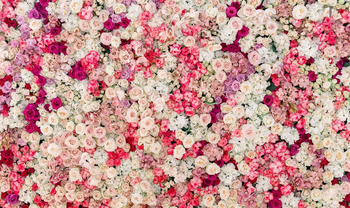 luxury weddings flower wall
