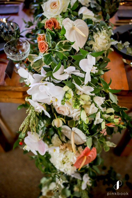 floral table runner by tonett's flowers