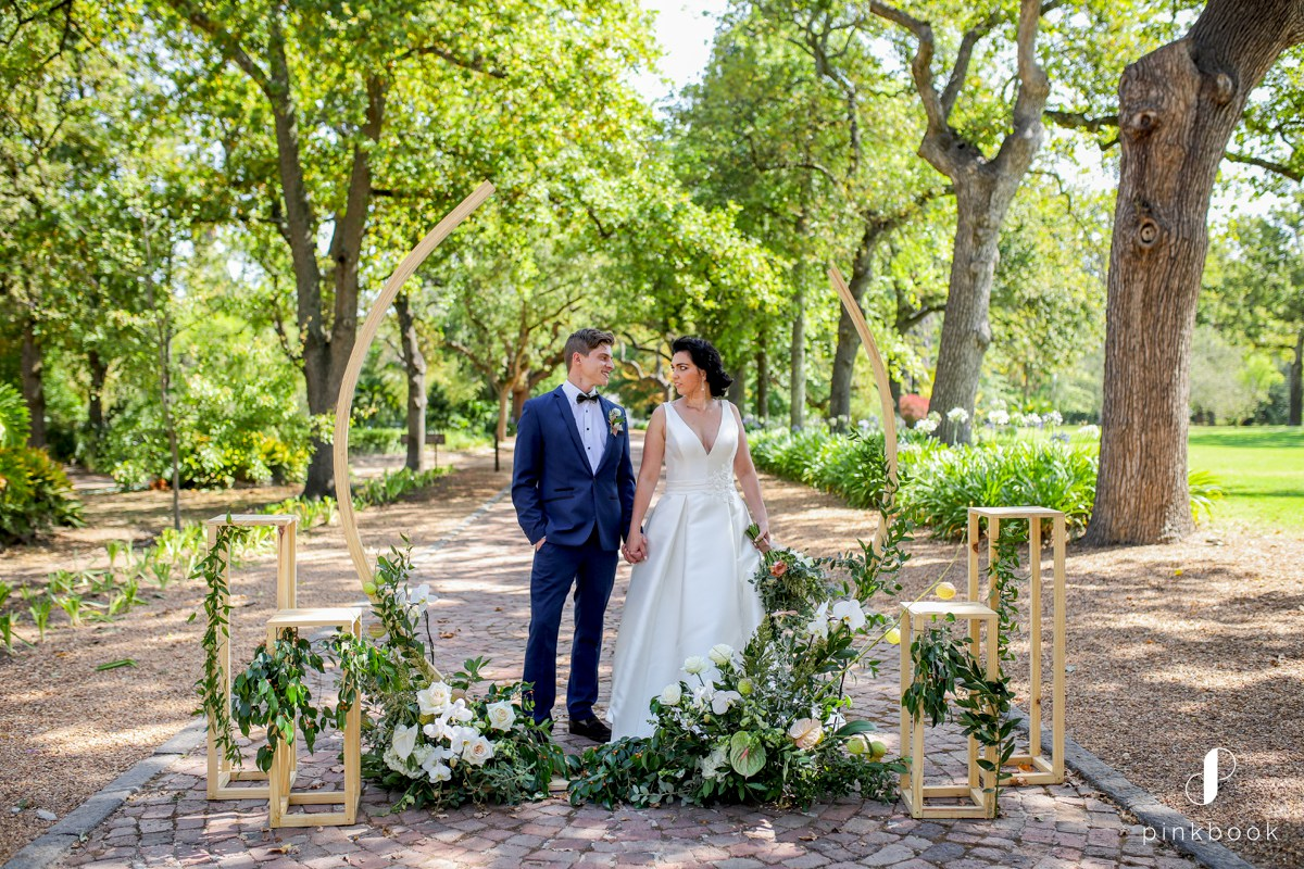 Green floral wedding inspiration