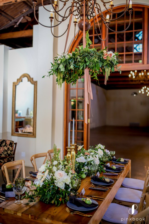 green floral wedding decor