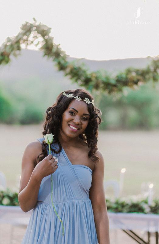 pale blue bridesmaid dress