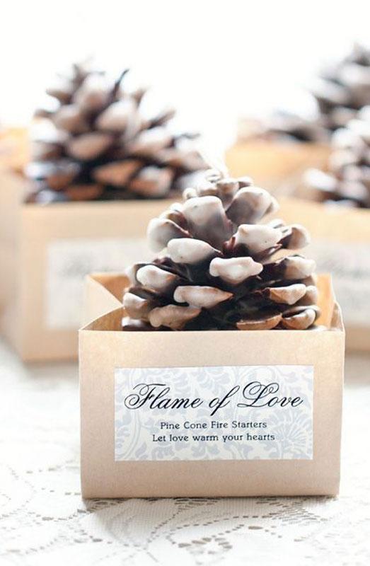 pinecone wedding gift