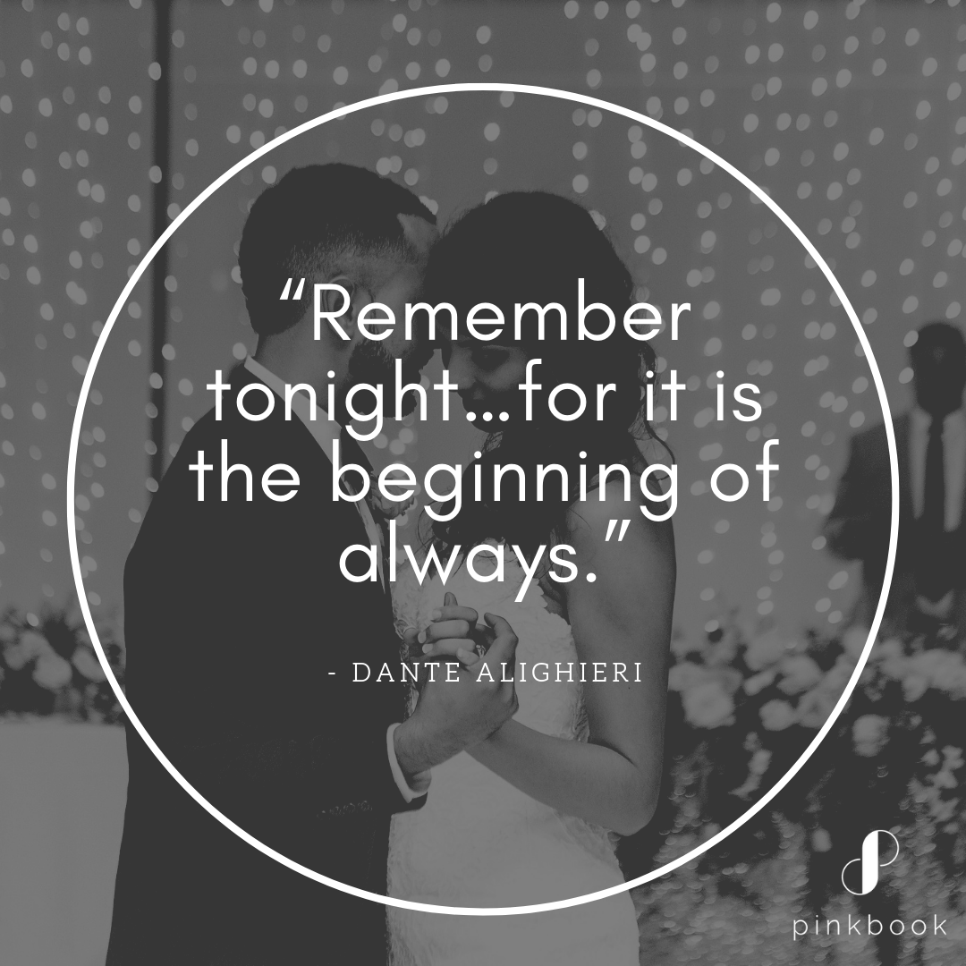 remember tonight wedding quote