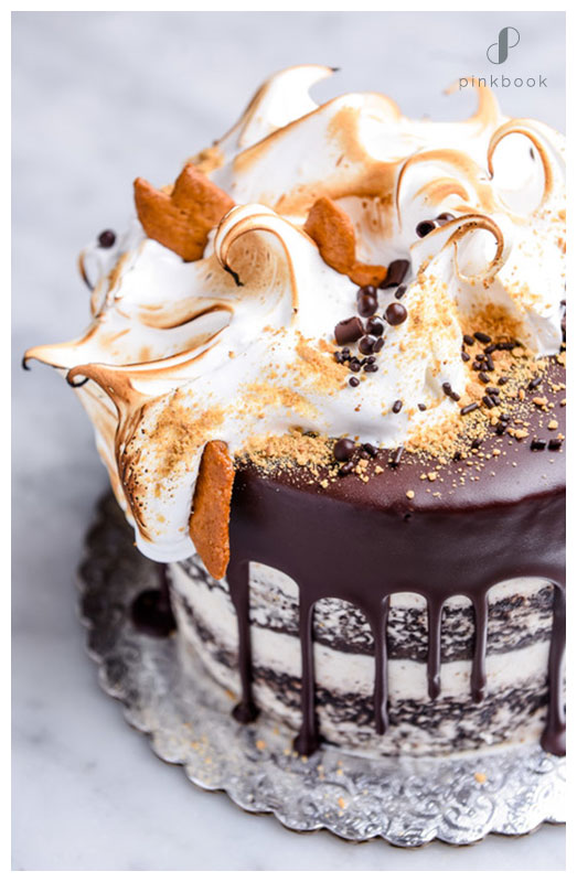 smores cake chocolate marshmellow