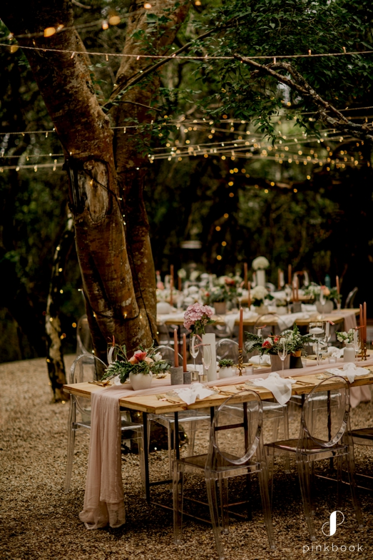 forest wedding inspiration fairy lights