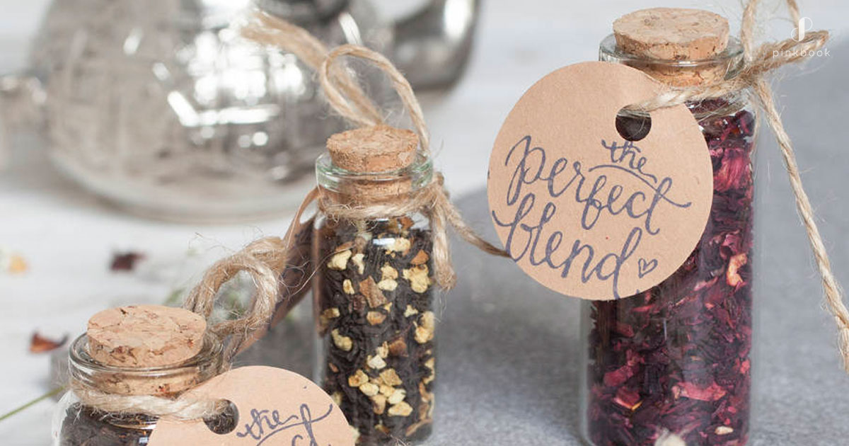the perfect blend wedding favour