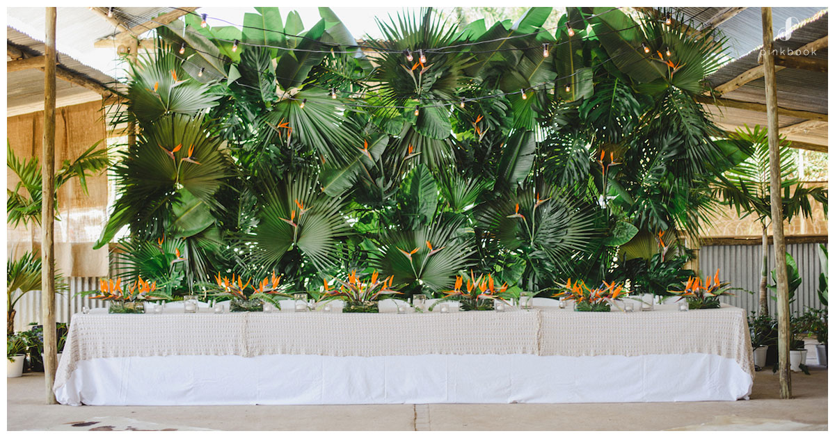 tropical wedding themes