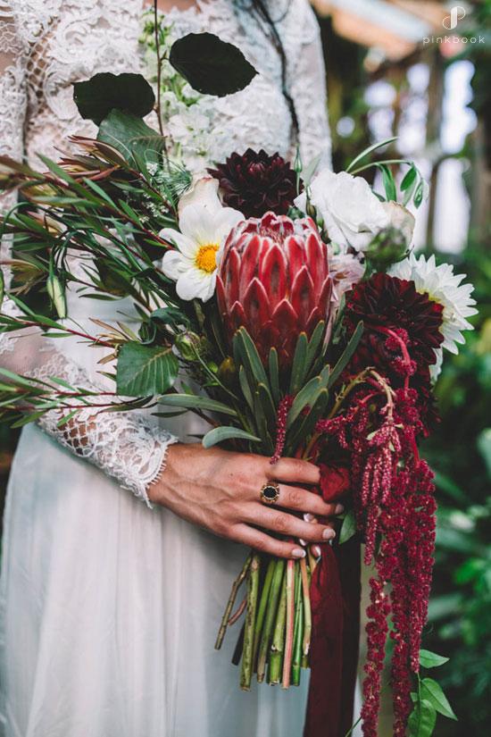 Protea Wedding Flower Bouquet