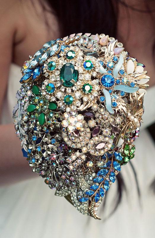 unique gems wedding bouquet ideas