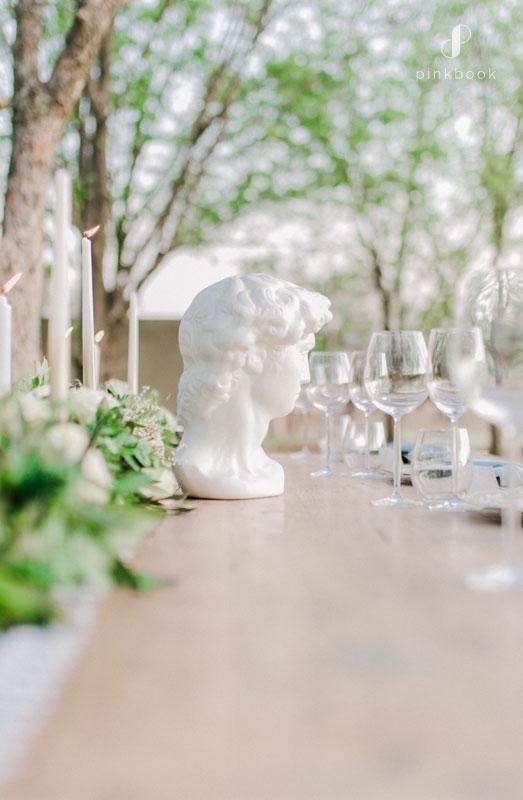 grecian wedding decor