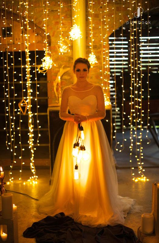 Unique Bouquet of Lights for Wedding