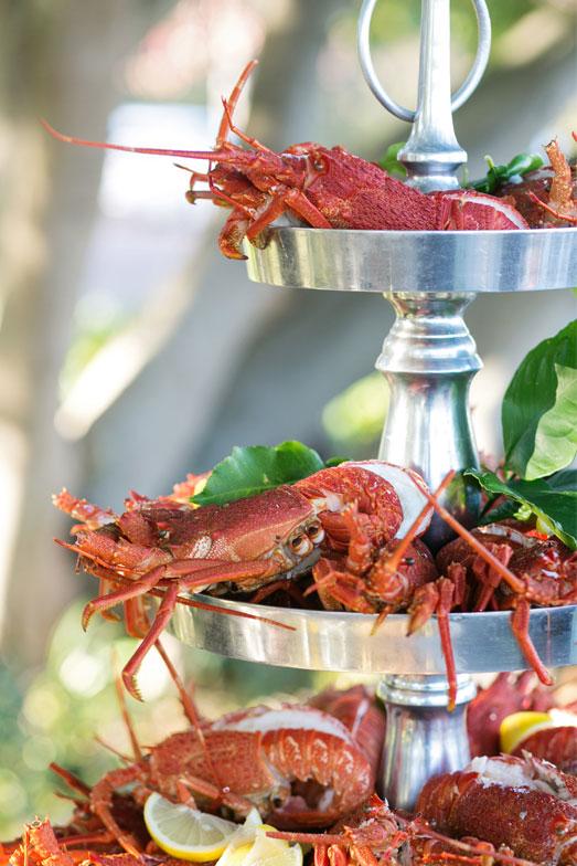Wedding food lobsters