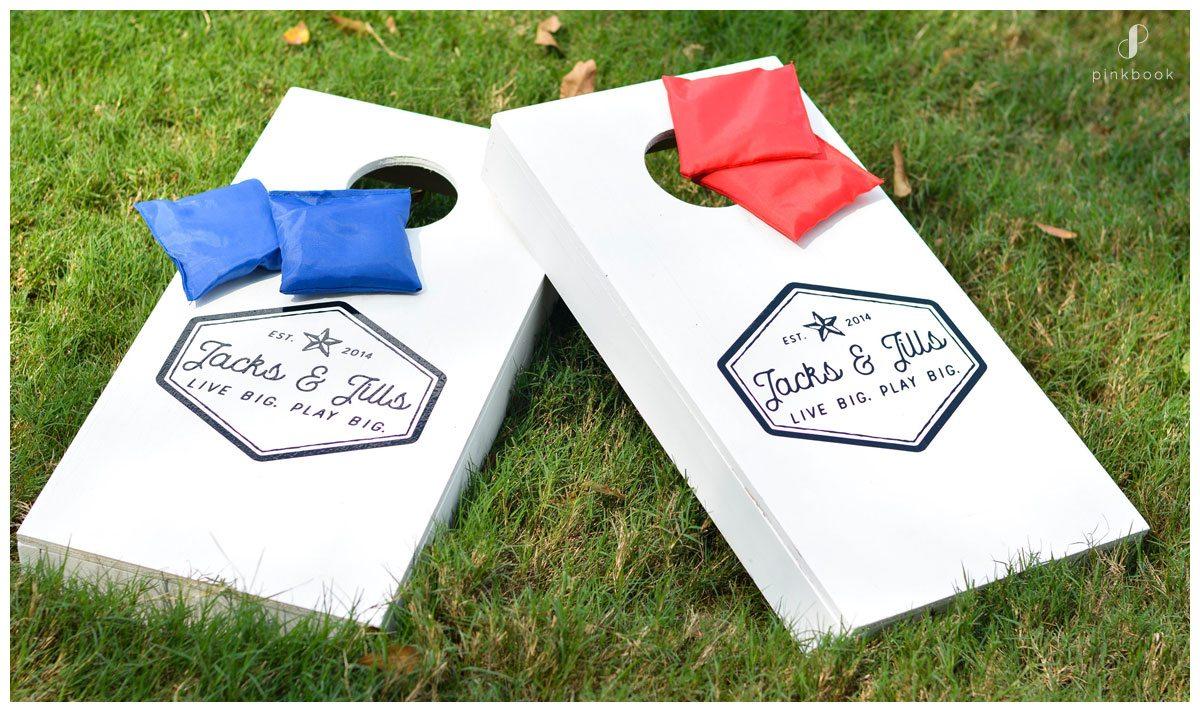 Lawn Games for Weddings beanbag toss
